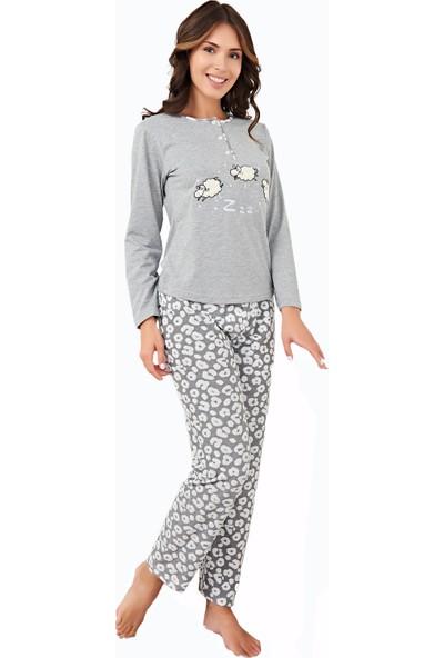 Çelebi 9546 Kadın Kışlık Spor Pijama Takımı