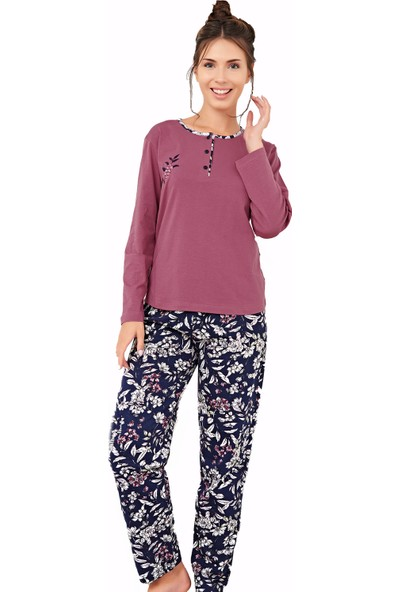 Çelebi 9608 Kadın Kışlık Klasik Pijama Takımı