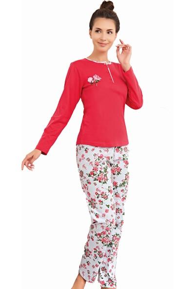 Çelebi 9631 Kadın Kışlık Klasik Pijama Takımı