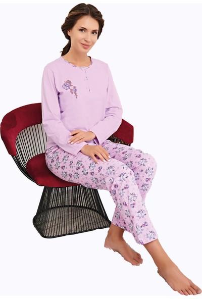 Çelebi 9643 Kadın Kışlık Büyük Beden Pijama Takımı