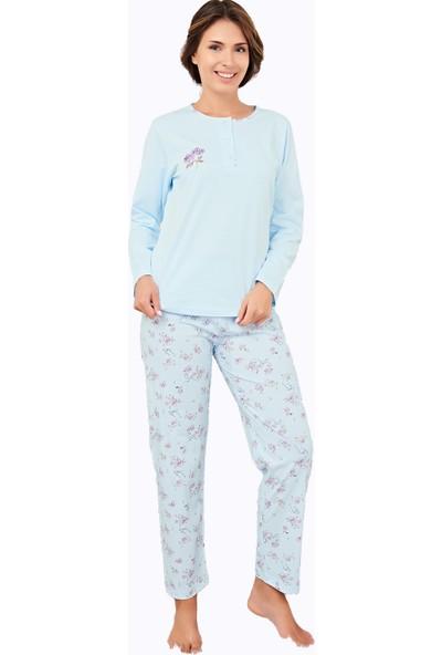 Çelebi 9665 Kadın Kışlık Büyük Beden Pijama Takımı