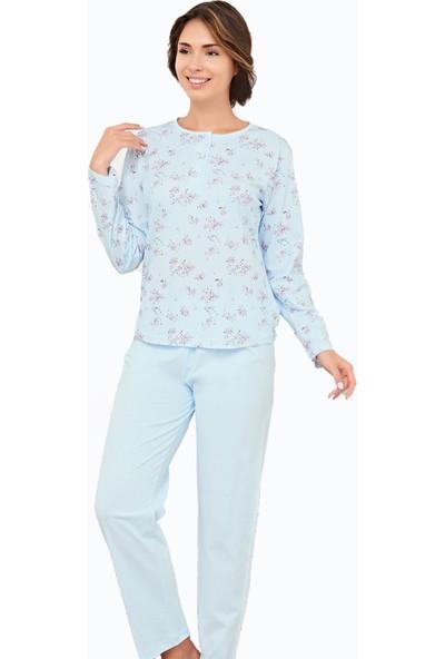 Çelebi 9675 Kadın Kışlık Emprime Pijama Takımı