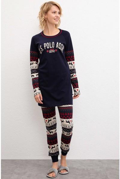 U.S. Polo Assn. Kadın Pijama 50223319-Vr033