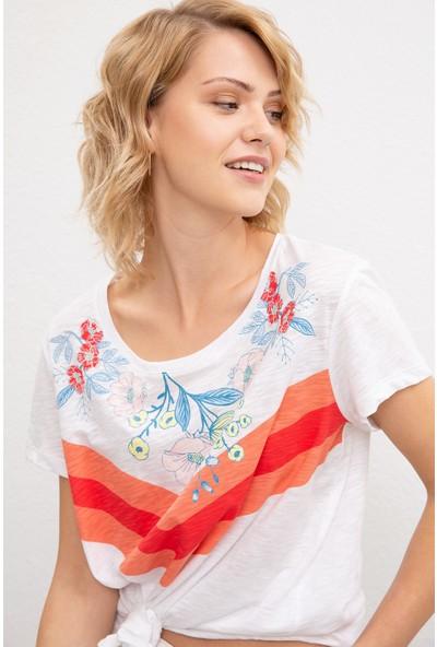 U.S. Polo Assn. Kadın T-Shirt 50220673-Vr013