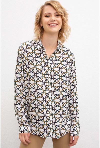 U.S. Polo Assn. Kadın Dokuma Gömlek 50207154-Vr054