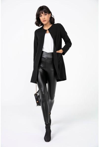 Liplipo Kadın Cepli Uzun Ceket