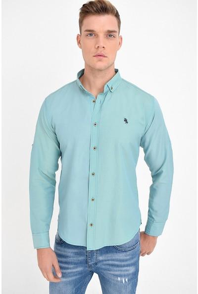 Philip Loren Erkek Mint Oxford Slim Fit Gömlek
