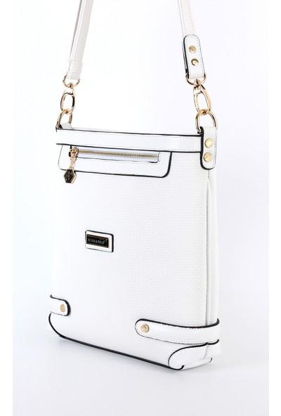 Silver Polo Kadın Çapraz Çanta Sp265 Beyaz