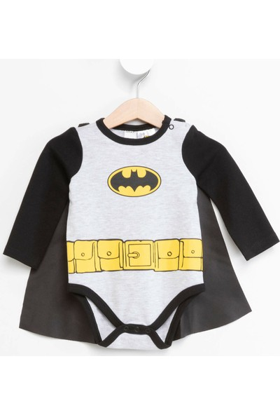 Defacto Erkek Bebek Pelerinli Batman Baskılı Lisanslı Çıtçıtlı Body