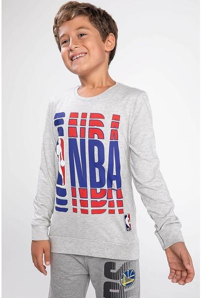 Defacto Erkek Çocuk Nba Logo Baskılı Lisanslı Sweatshirt