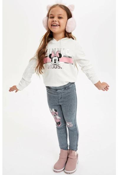 Defacto Kız Çocuk Minnie Mouse Lisanslı Slim Fit Tayt