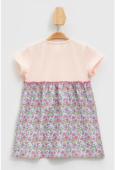 DeFacto Kız Bebek Desenli Elbise M0530A219AU