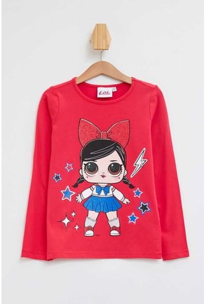 Defacto Kız Çocuk Lol Baskılı Lisanslı Uzun Kollu Sweatshirt