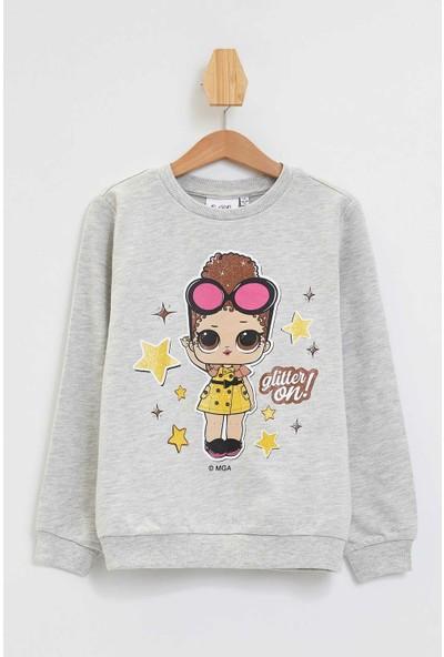 Defacto Kız Çocuk Lol Baskılı Lisanslı Sweatshirt