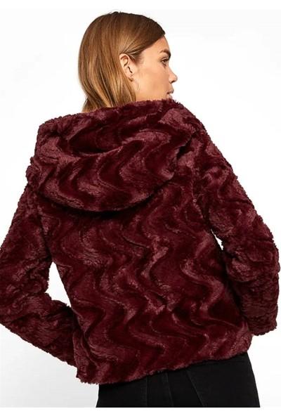 Vero Moda 10198760 Kadın Mont Bordo