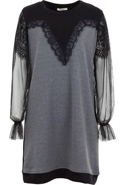 Unique 4005 Kadın Elbise Siyah