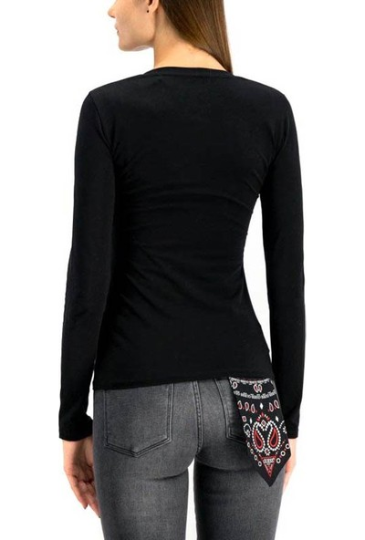 Guess W94i85K7De0 Kadın T-Shirt Siyah