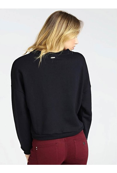 Guess W94Q76K8800 Kadın Sweatshirt Siyah