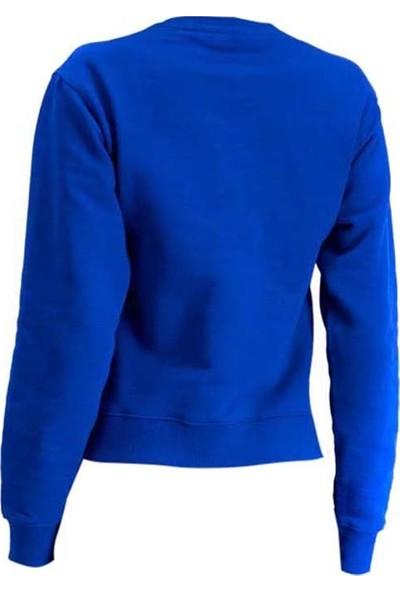 Guess W94Q72K68i0 Kadın Sweatshirt Mavi