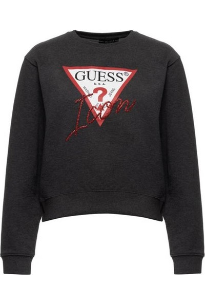 Guess W94Q72K68i0 Kadın Sweatshirt Antrasit