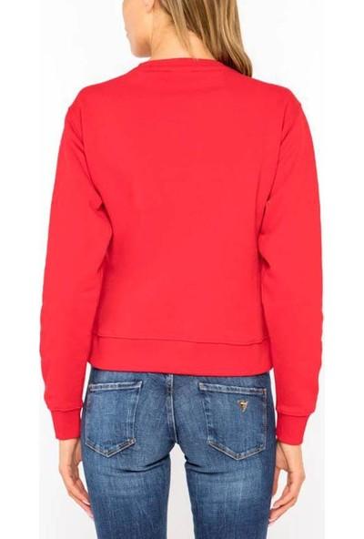 Guess W94Q72K68i0 Kadın Sweatshirt Kirmizi