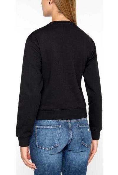 Guess W94Q72K68i0 Kadın Sweatshirt Siyah