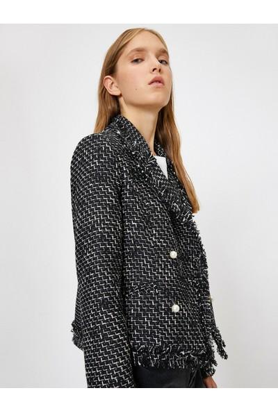 Koton Kadın Inci Detaylı Ceket