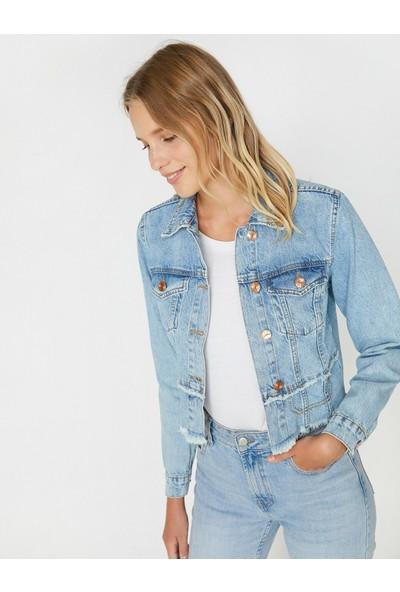 Koton Kadın Kot Ceket