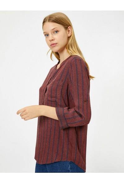 Koton Kadın Çizgili Bluz