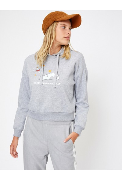 Koton Kadın Koton Love Sweatshirt