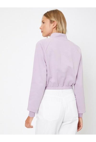 Koton Kadın Fermuar Detaylı Sweatshirt