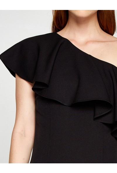 Koton Kadın Tek Omuz Elbise