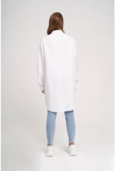 Mizalle Yakası Troklu Tunik Gömlek
