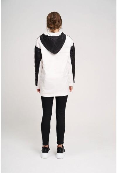 Mizalle Mikro Kaplamalı Sweatshirt