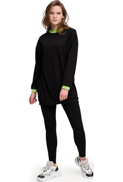Mizalle Neon Ribanalı Sweatshirt