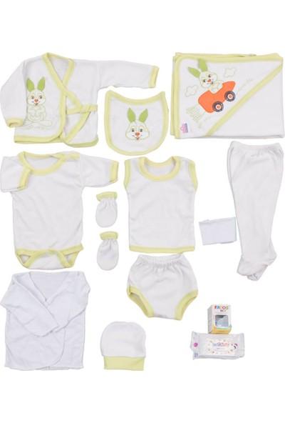Burtaç Baby Havuçtan Arabalı Tavşan Desenli 13'lü Zıbın S. Yeş