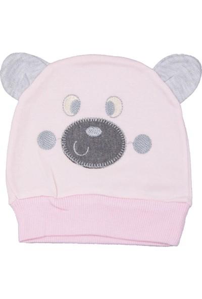 Minitoy Minitoy Ayı Desenli Pembe Şapka