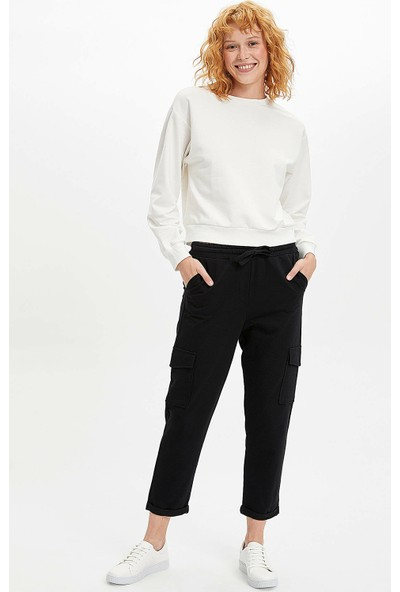 Defacto Kadın Rahat Kalıp Örme Pantolon