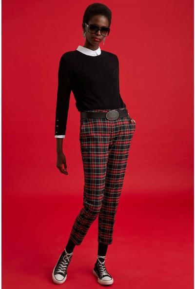 DeFacto Valentina Cigarette Desenli Pantolon M3106AZ19AU
