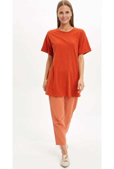 Defacto Kadın Uzun T-Shirt