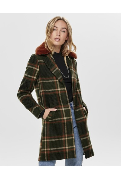 Only Mont Teresa Check Fur Wool 15182144-Frn