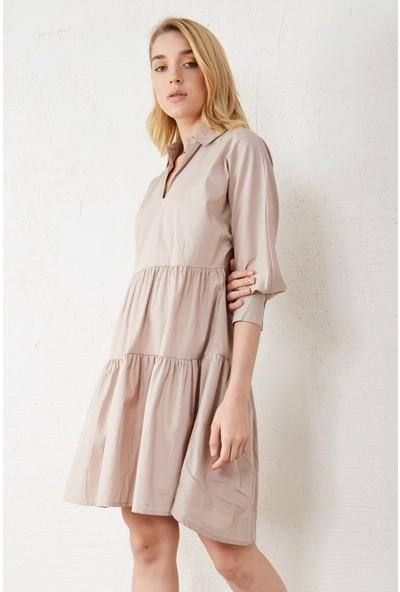 Freestar Kadın Parçalı Kısa Kol Elbise