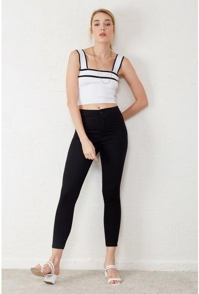 Freestar Kadın Yüksek Bel Kot Pantolon