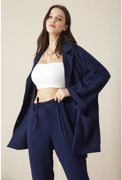 Freestar Kadın Duble Kol Önü Düğmeli Ceket