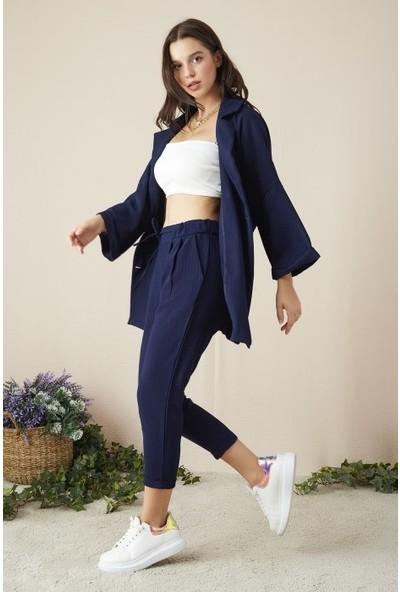 Freestar Kadın Duble Paça Beli Lastikli Pantolon