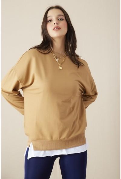 Freestar Kadın Uzun Kol Sweatshirt