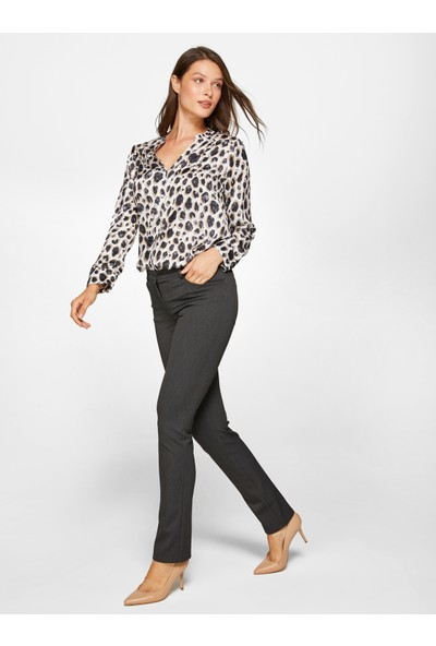 Faik Sönmez Kadın Normal Bel Straight Pantolon 39051