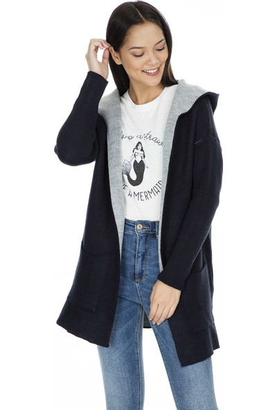 Fashion Friends Kapüşonlu Hırka Kadın Hırka K0287