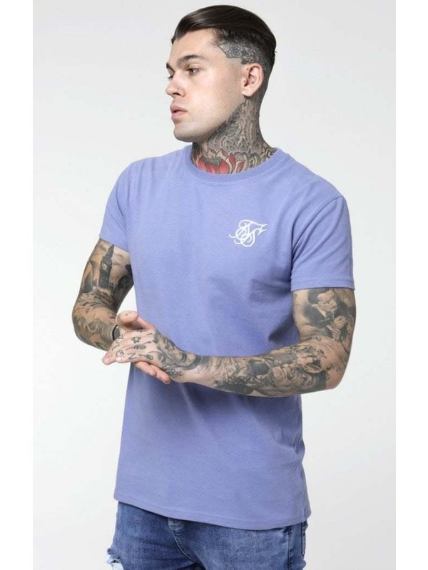 Siksilk Peached Box Tee - Blue Ice