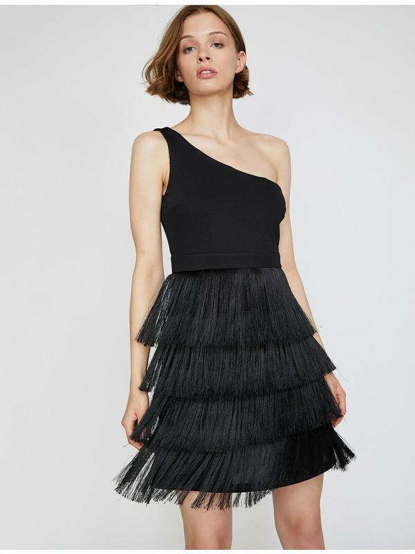 Koton Kadın Püskül Detaylı Elbise